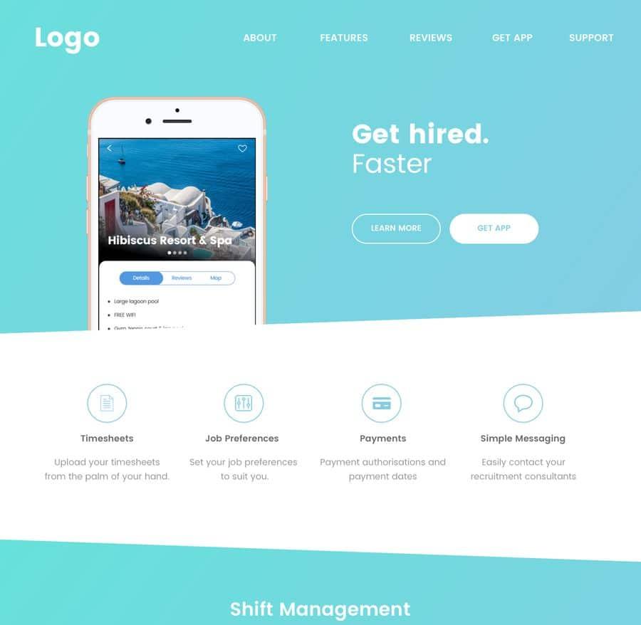 landing page, projektowanie