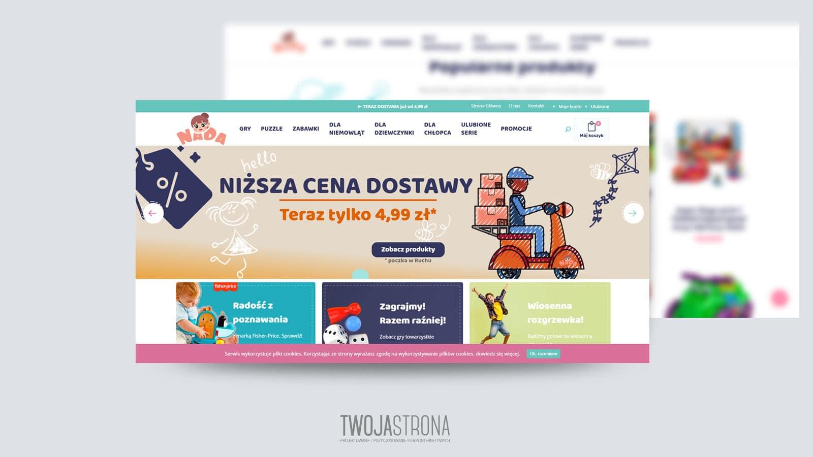 You are currently viewing Projekt strony www Nada – sklep z zabawkami